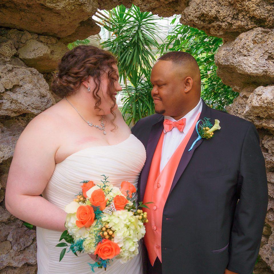 Chicago Wedding Photographer   Jennifer Birge and Gerrord Parri Wedding - Wilder Park Conservatory