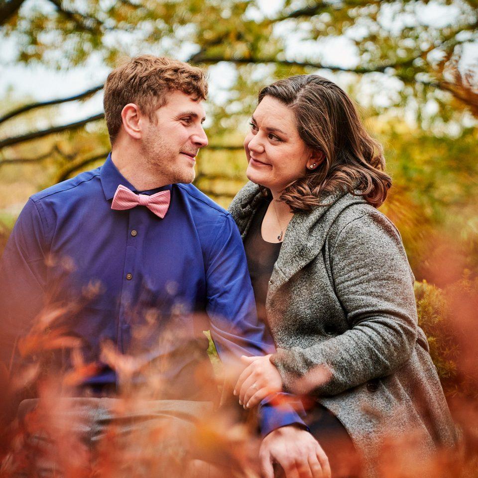 Chicago Wedding Photographer | Allen and Vicky in Lurie Garden, Millennium Park